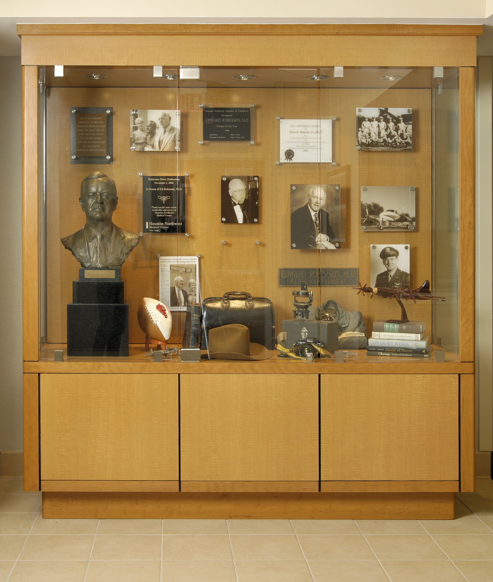 Houston Northwest Medical Center Archive Display for it's founding physician, Edward Roberson, MD.