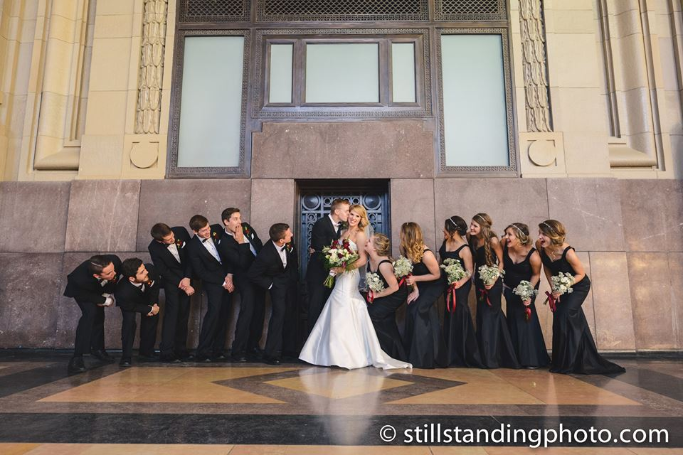 Chandler and Kristina had a beautiful church wedding and took pictures at Union Station!