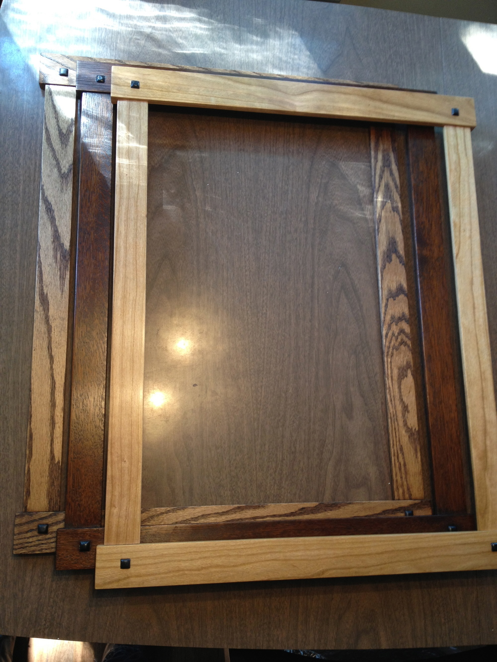 Picture frames dcw woodworks three simple craftsman style frames one each in cherry white oak and red oak they feature ebony pillowed pegs these were more of an experiment in jeuxipadfo Image collections