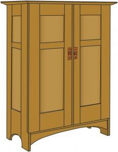 L & JG Stickley No.112 Wardrobe