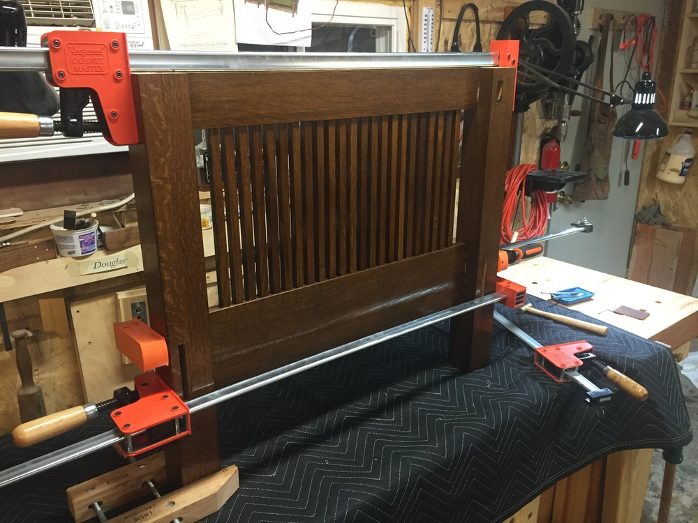 A side assembly glue up