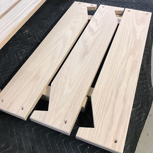 Ledger boards being prepped for finish.