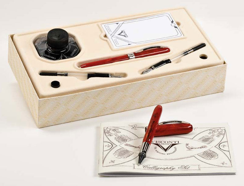 Four Visconti calligraphy sets -- value $300
