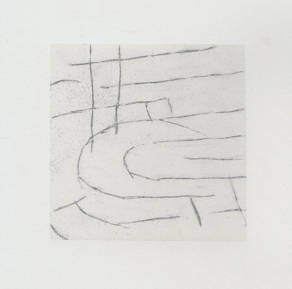 2017  Silkscreen monoprint with graphite