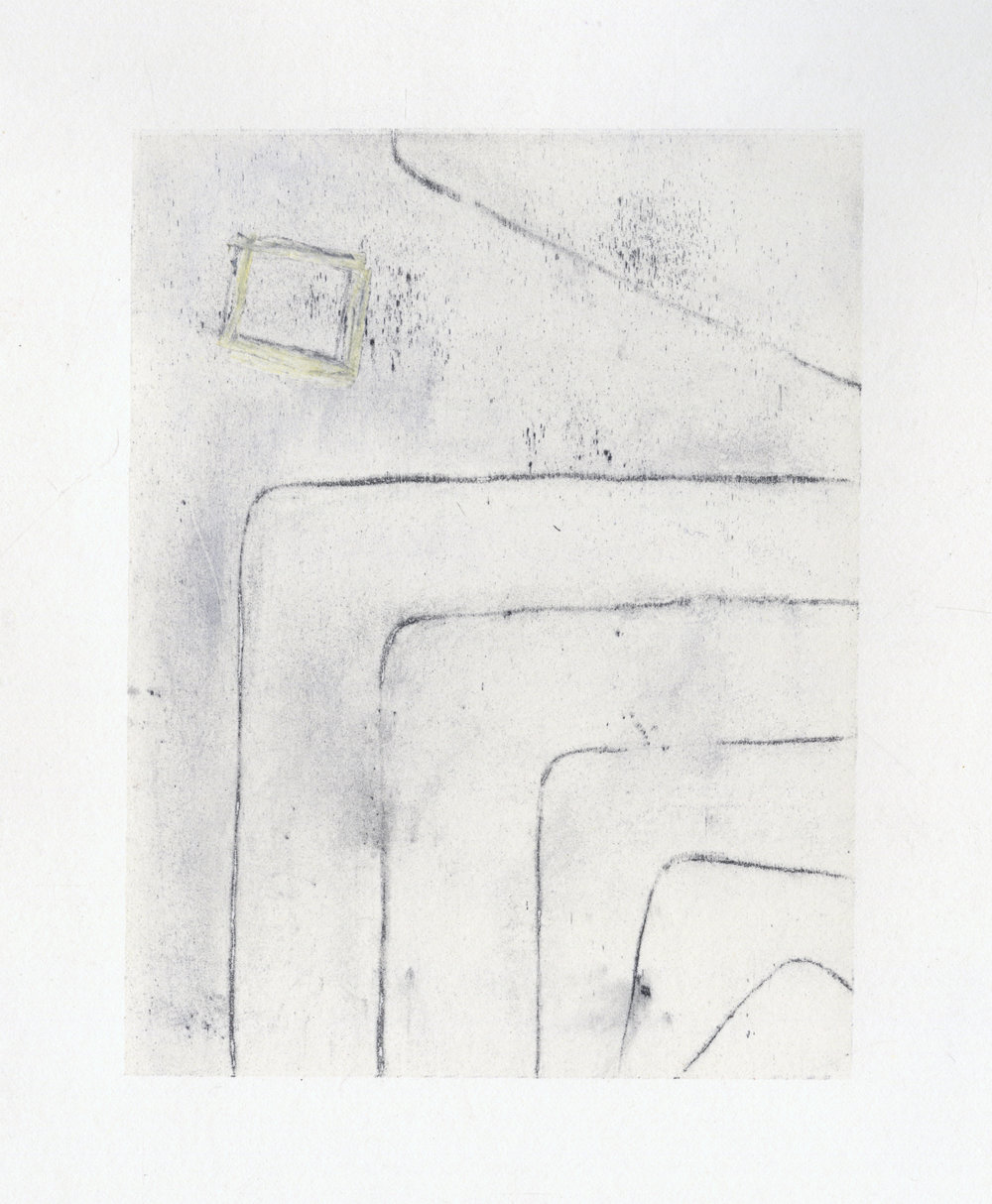 2017  Silkscreen monoprint with graphite and pastel