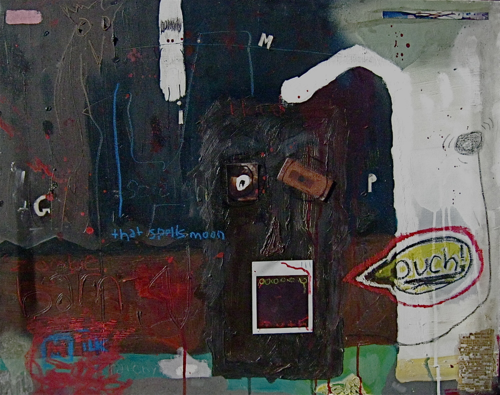 """Zombie Barn""  (Mixed-media on canvas)"