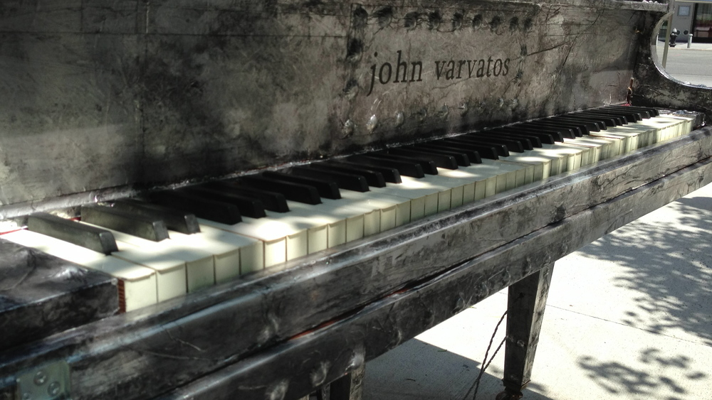 Pianos were places all over New York City as part of the SingForHope.org project.