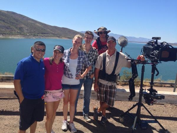 The crew (left to right): Genaro (grip), Julie (makeup), Daren (grip), Joe (audio), Robert (Steadicam)