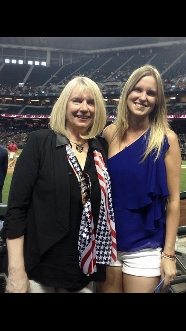 Mom and me at the Diamondbacks game, May 26, 2014. Phoenix, AZ.