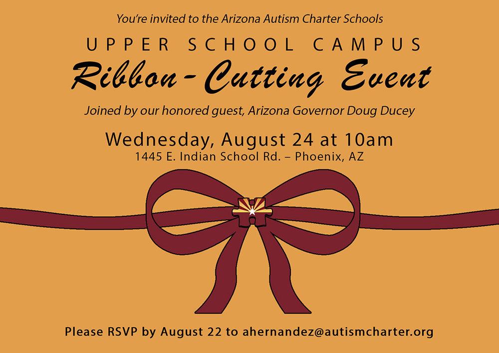 Arizona Autism Charter Schools, ribbon-cutting invitations