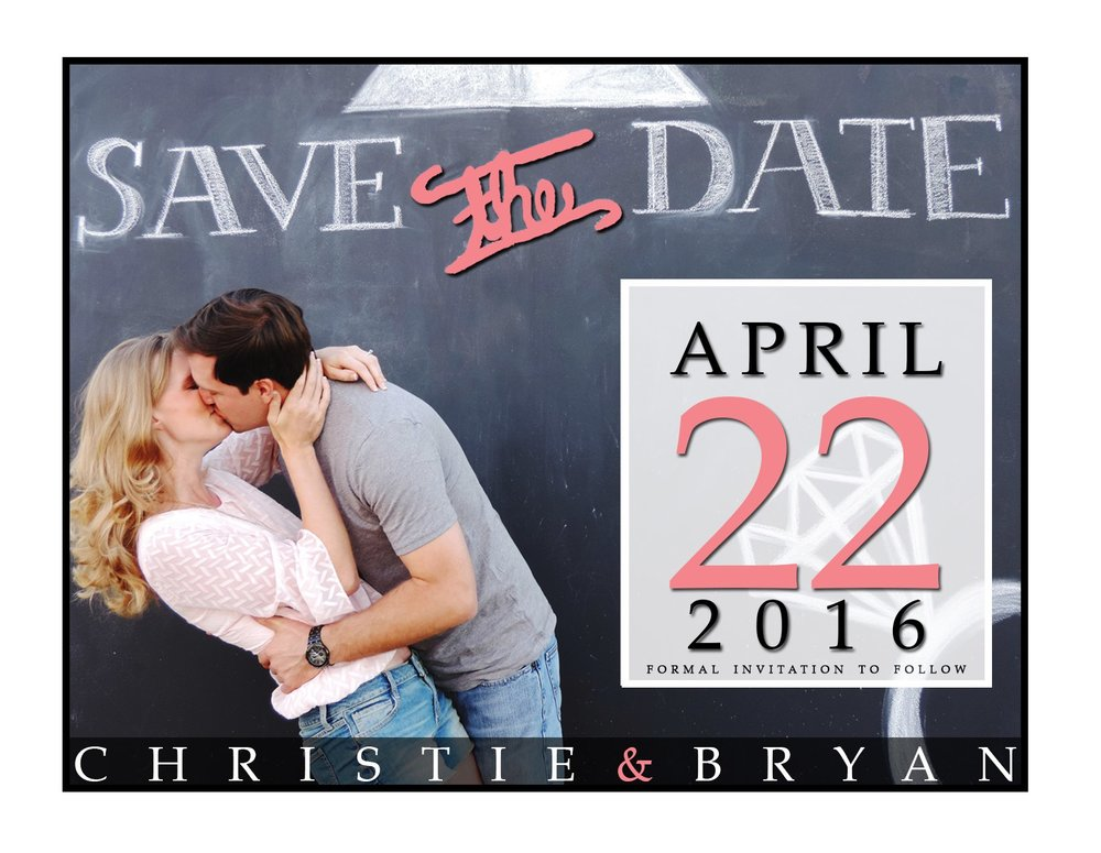 Property of Christie (Roshau) Lukes - Save the Dates