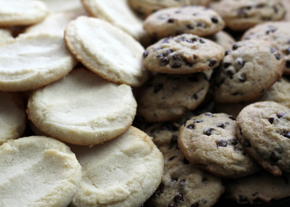 Mini Butter Cookies & Mini Chocolate Chips