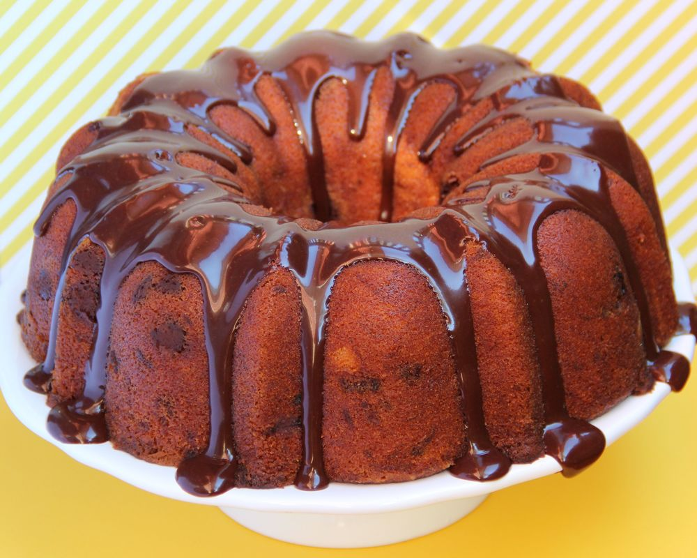 Banana Pound Cake with Milk Chocolate Chips : $24