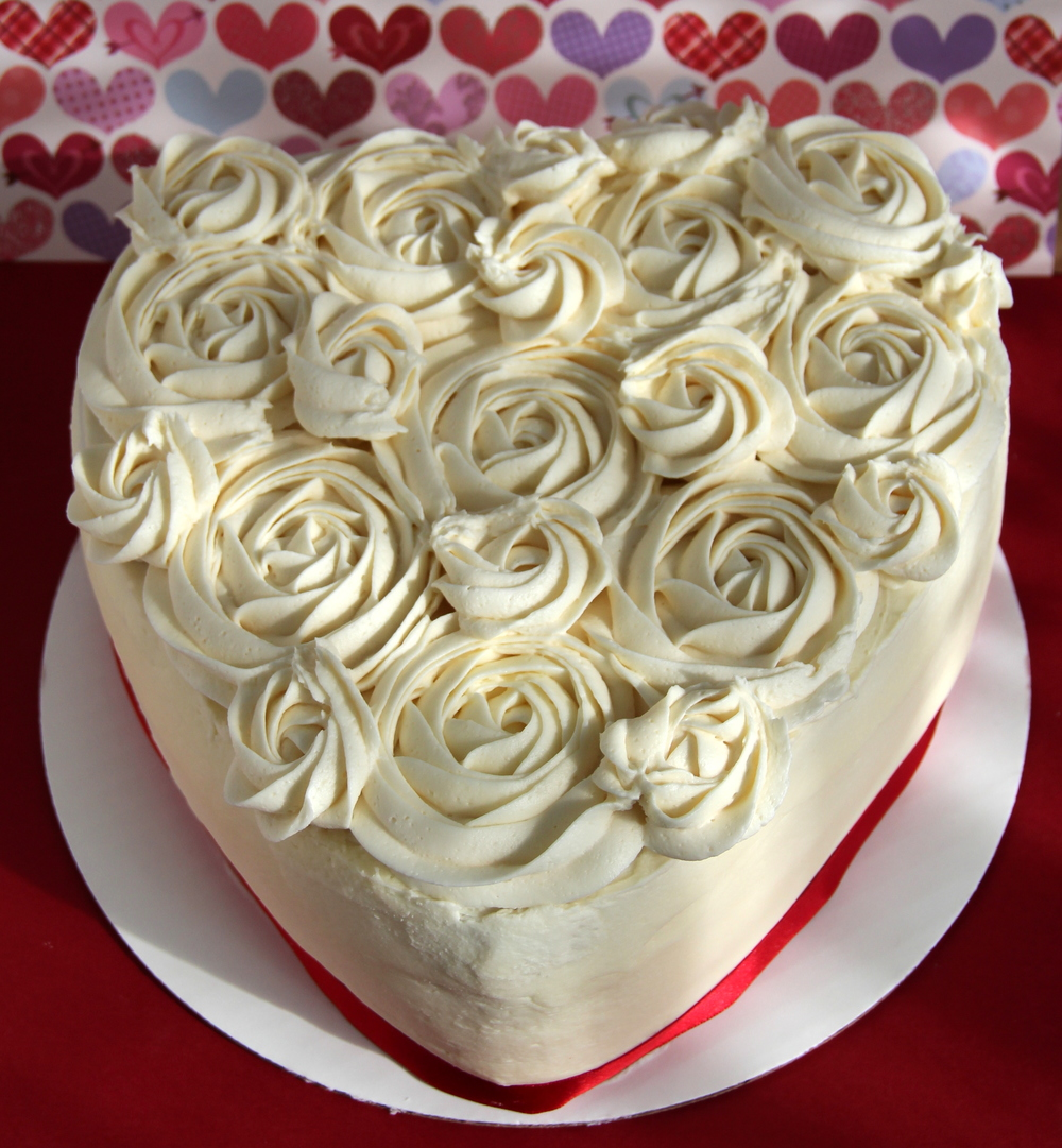 Heart Shaped Red Velvet Cake (2 layer) : $36