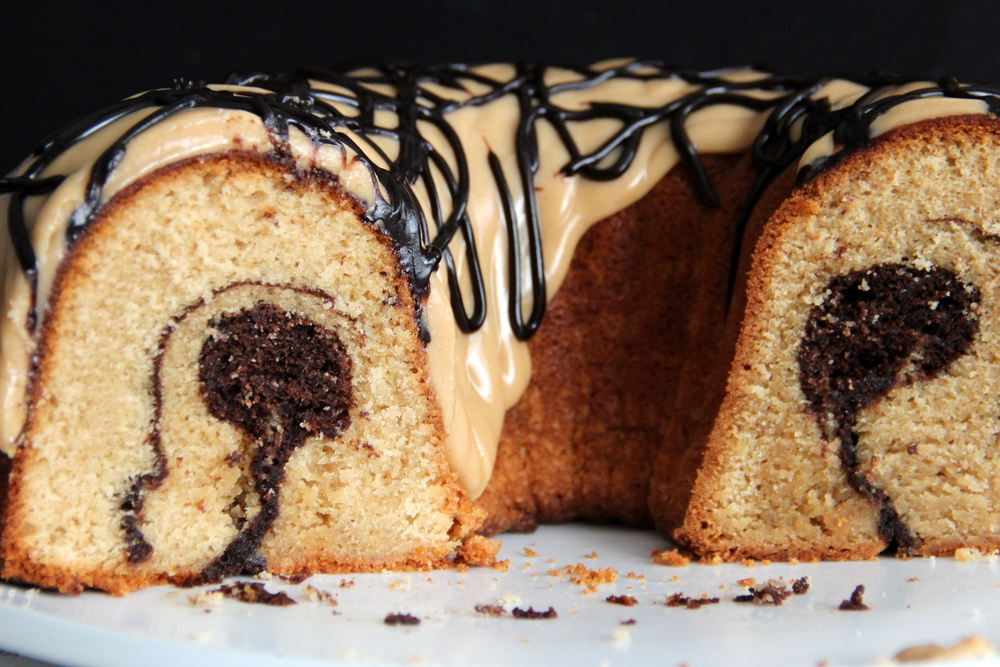 Peanut Butter Fudge Swirl Pound Cake : $24