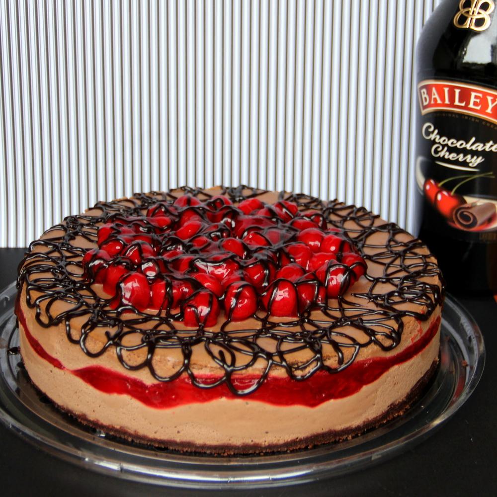 Baileys® Chocolate Cherry Cheesecake