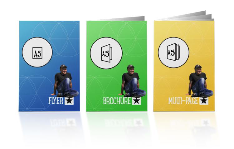 brochure flyer design a5 blink
