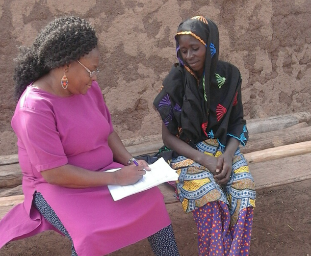 CASCAID From satellites to gender dynamics for Ghanaian agricultural insurance - Click here for more(Dr Susana Alo interviewing potential insurance customers in North East Ghana)