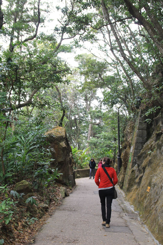 Walking the Peak Trail.