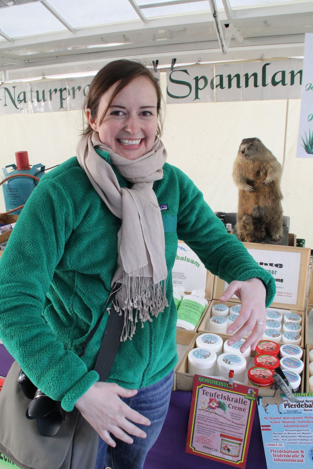 Pretty fricking pumped about buying some marmot oil salve at the Universitätsplatz Grünmarkt. This vendor also sells at the weekly market near Mirabell Gardens. I have been in love with their taxidermied marmot since 2002.