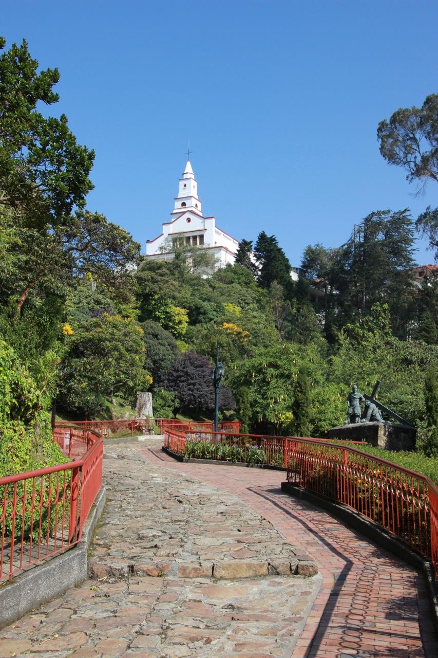 Santuario de Monserrate, sittin' pretty on top of Cerro de Monserrate.