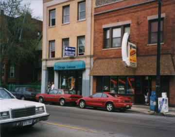 The studio was on the 3rd floor of the Costume Shop building at 1120 W. Fullerton Ave.