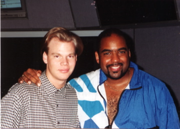 "Brian & Gerald at the recording session for ""Take Me Home To You"" at Hinge Studios in Chicago, IL."