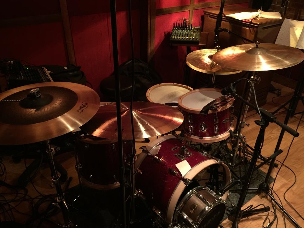 Khari Parker's vintage drum set