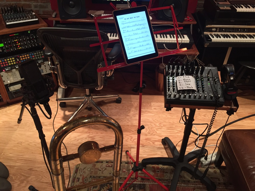 BC's trombone setup