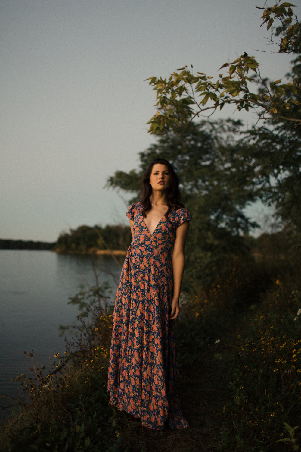 sunset editorial photos floral maxi dress bohemian editorial sarah rose photography ohio