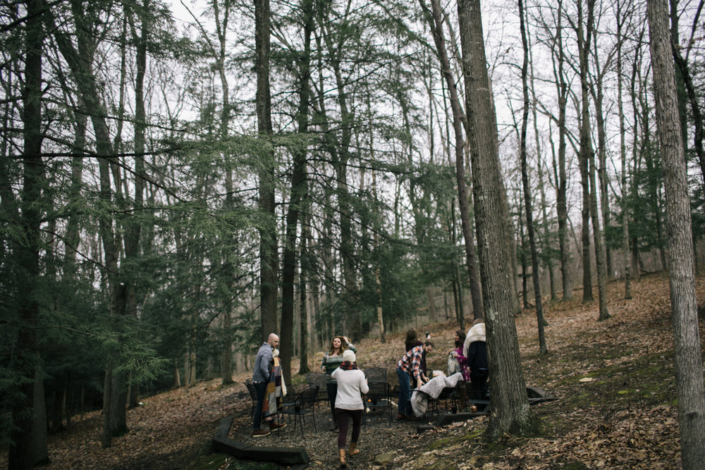 jake and krysti engagement session with friends in hocking hills, ohio by sarah rose