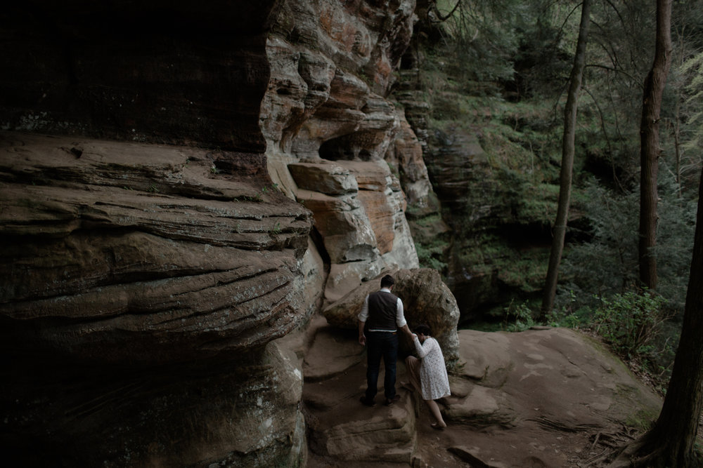 justin brie intimate wedding ash cave hocking hills ohio by sarah rose