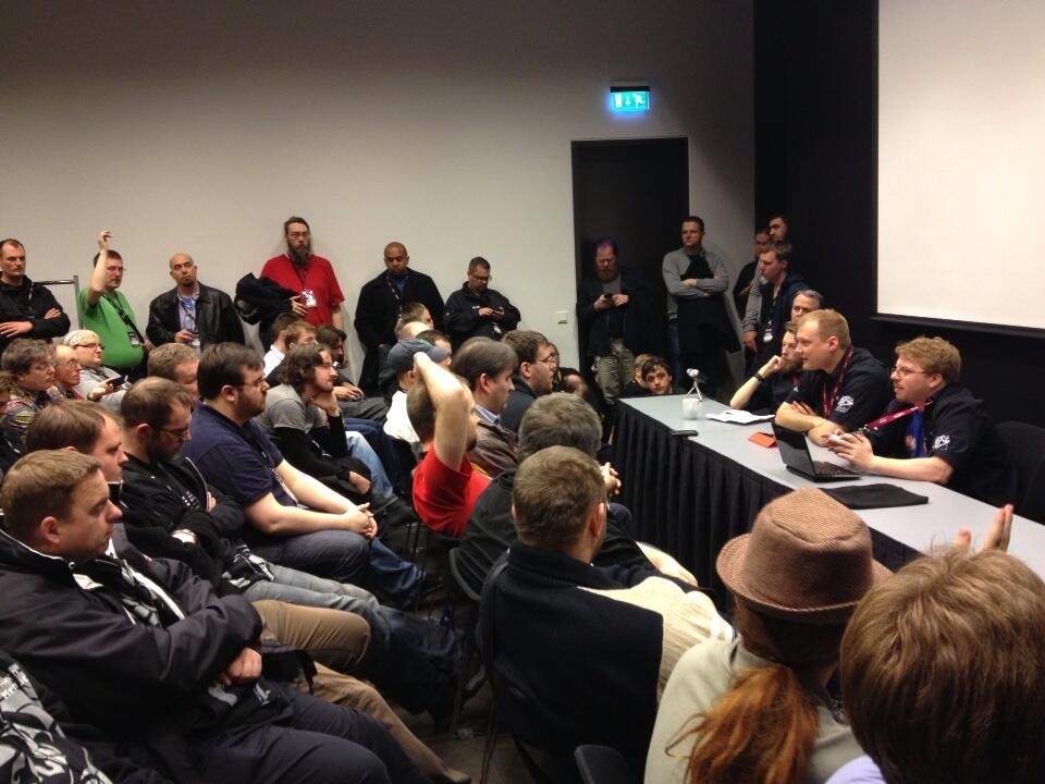 Typically packed Fanfest roundtable discussion