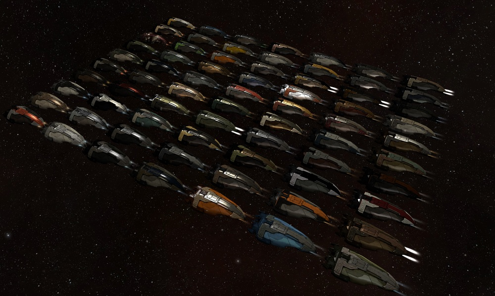 CCP Mankiller teased us with a picture showing the potential of a universe in which EVE Online pilots get to put custom paint jobs and logos on their ships. Soon™ - (drool!)