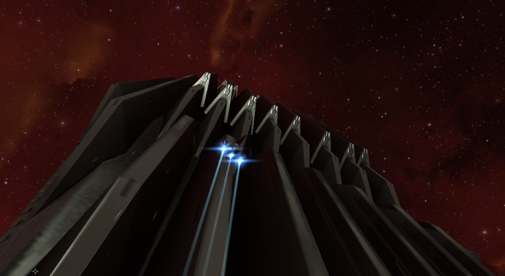 Flying up alongside one of the massive Unidentified Structures makes one feel especially insignificant in a frigate.