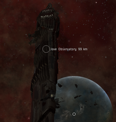 Two areas of damage appeared on the Jove Observatory that I approached, seen here at the top and bottom of the picture.