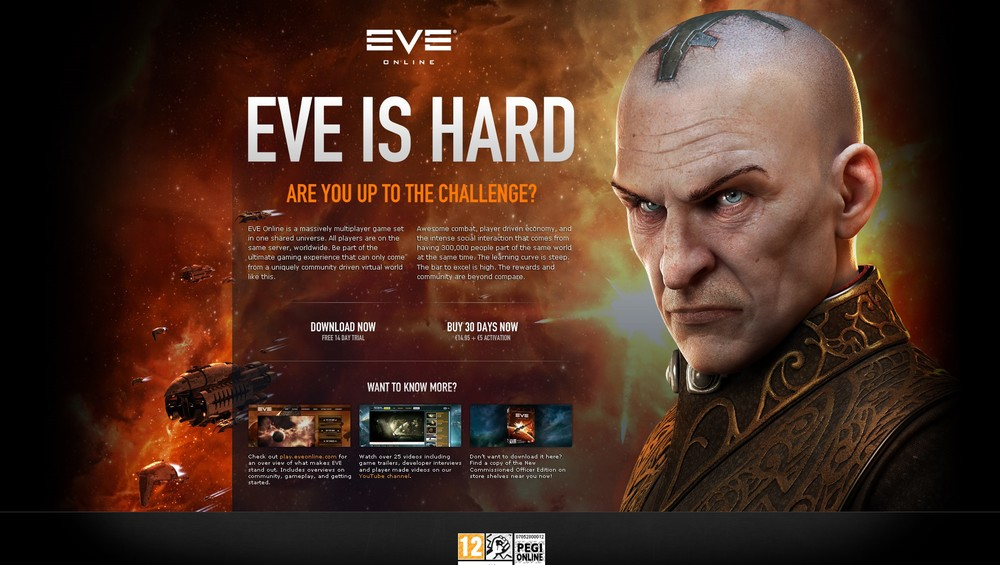 In the past, CCP Games actively promoted EVE Online as a hard game, and not for everyone - the result being that some potential players were likely scared away.