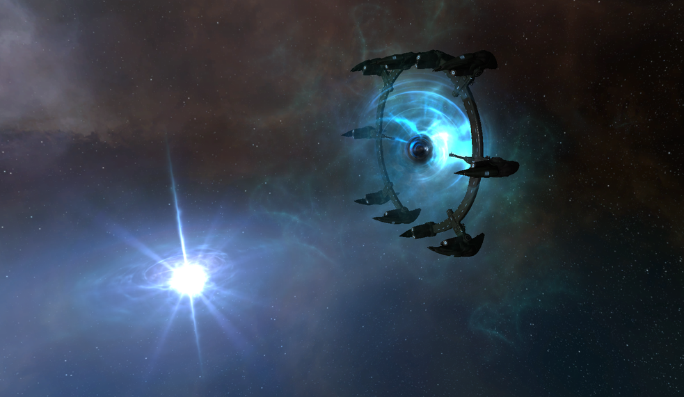 Lore expert and author of the  Interstellar Privateer  blog,  Rhavas , captured this image of a new structure in an Unidentified Wormhole - official release date for this new content is unknown.