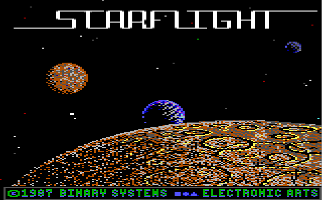 Starflight was my first introduction to an open-ended sandbox game with a space theme, way back in 1988.