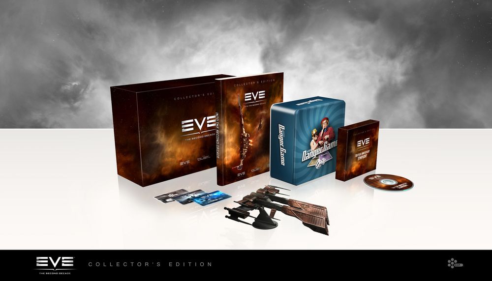 The EVE Online Collector's Edition included a recording of the EVE Symphony from Fanfest 2013, a nifty Rifter ship model (which doubles as a handy USB port), a beautiful commemorative book, a copy of The Danger Game, special codes which could be redeemed for special in-game prizes - and a unique Mystery Code.