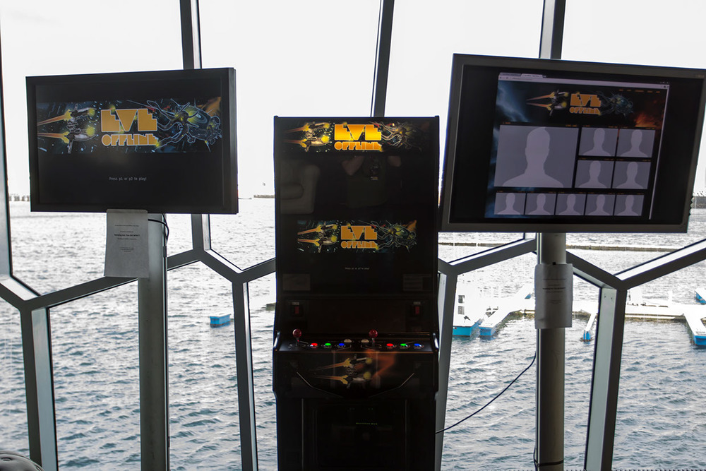 EVE Offline, an EVE-inspired arcade game displayed at Fanfest 2013.