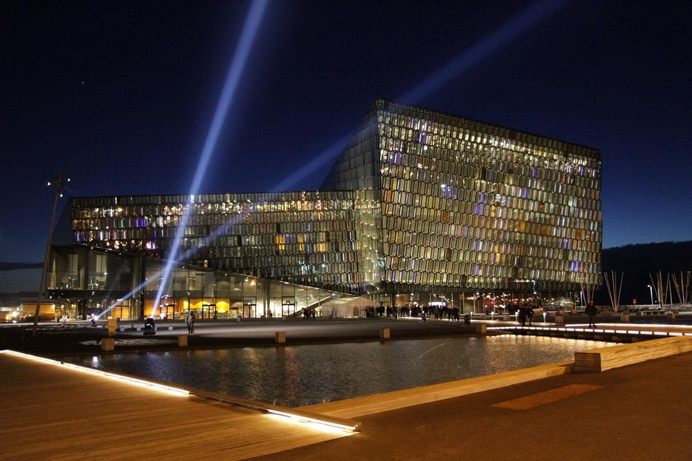 Harpa, the obviously Cardari-inspired hall which is the location of Fanfest 2016 in Reykjavik.