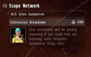 Only one event challenge appears on the main client screen. Unless you already know to click on the Scope Network icon on the neocom (the little TV set icon), you'd never know you had multiple challenges to choose from.