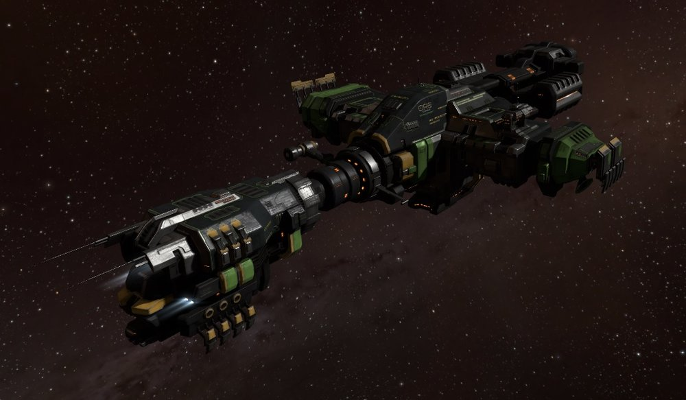 The new Porpoise-class entry-level industrial command ship, based on the Noctis design