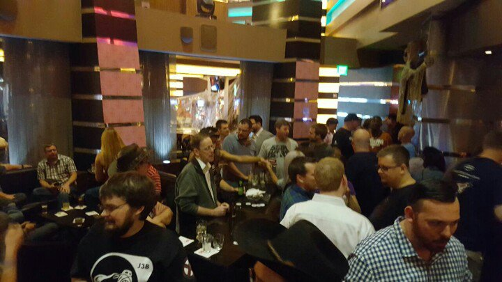 Spaceship nerds gather at the Heart Bar at Planet Hollywood for EVE Vegas.