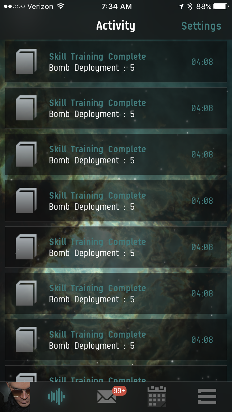 Apparently, EVE Portal really, really wants me to know that completion of Bomb Deployment 5 is super-duper important.