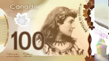 E. Pauline Johnson (Tekahionwake) is on the short list of five woman;one of whom will be chosen to be on the Canadian 100 bill in 2018.