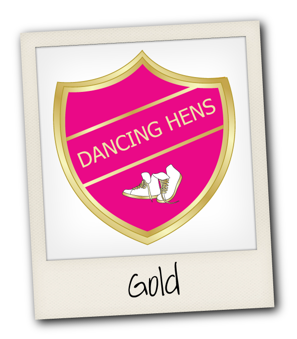 Gold Dancing Hen Party