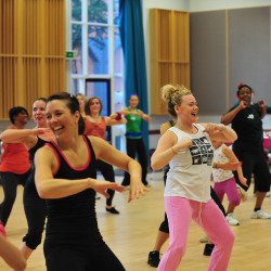 MON 20TH AUGUST 18:30-19:30    ZUMBA! SHAKE, SHIMMY, AND DON'T FORGET TO SMILE!    HARRIS GIRLS' ACADEMY