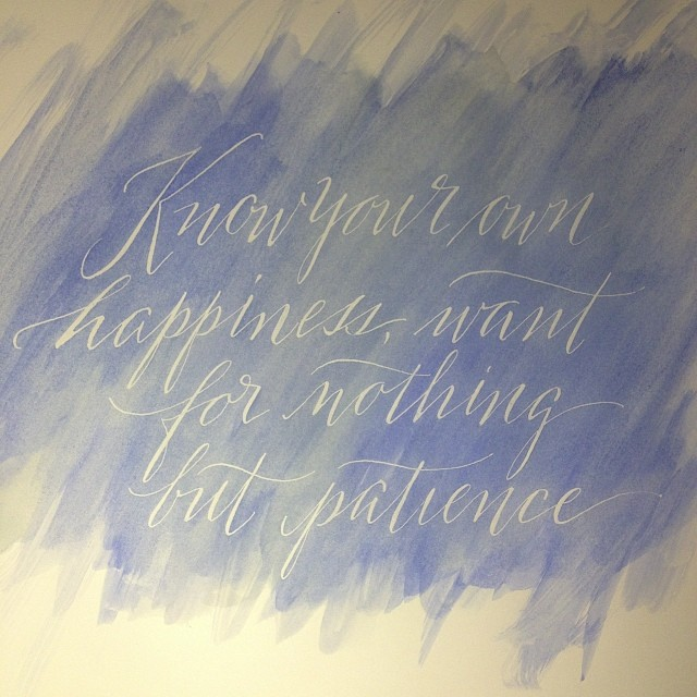 Today's prompt: Imagine what Wednesday Adams' 4th grade handwriting looked like. It probably looked like something that would have got her sent to the school psychologist. Ready? Now pen an inspirational quote and enjoy the juxtaposition. :) (à Studio French Blue )